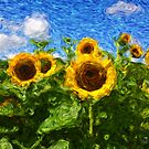 Sunflower field à la Van Gogh by gameover