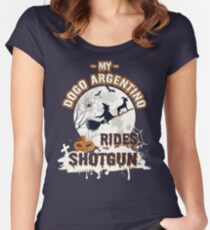 Dogo Argentino Halloween Shirt Women's Fitted Scoop T-Shirt