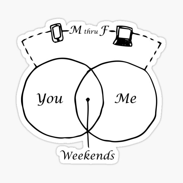 You Me Weekends Sticker
