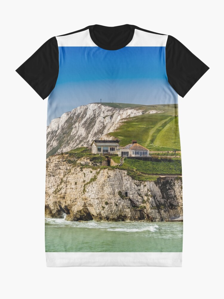 Alternate view of Fort Redoubt Freshwater Bay Isle Of Wight Graphic T-Shirt Dress