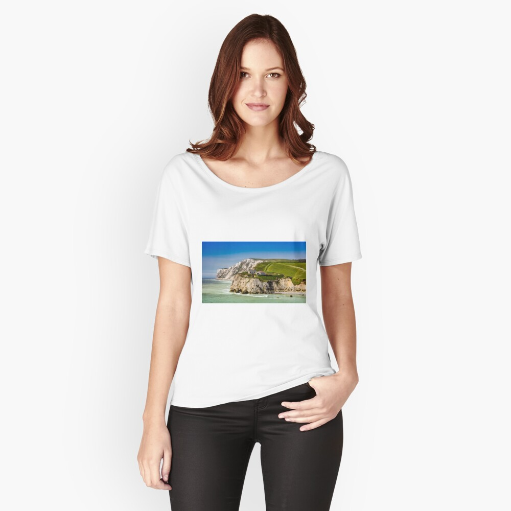 Fort Redoubt Freshwater Bay Isle Of Wight Relaxed Fit T-Shirt