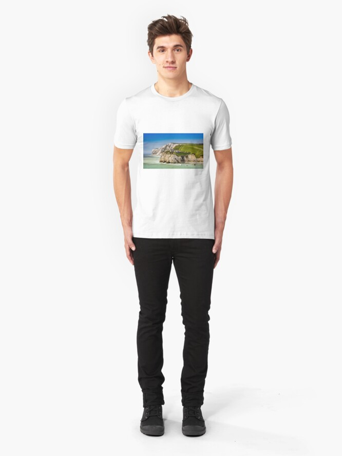 Alternate view of Fort Redoubt Freshwater Bay Isle Of Wight Slim Fit T-Shirt