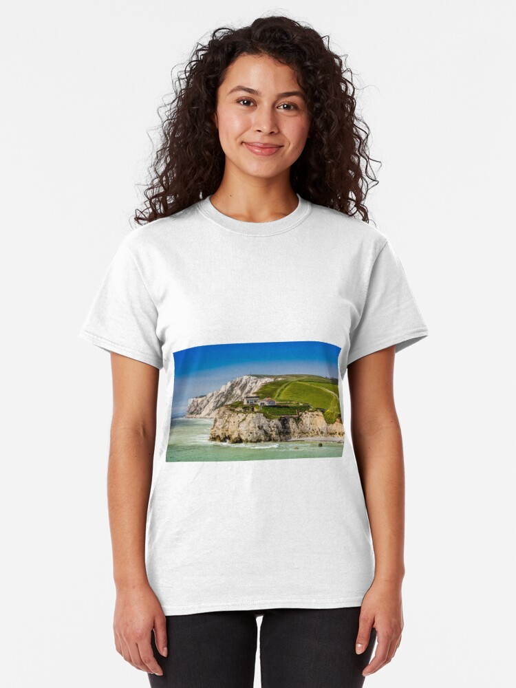 Alternate view of Fort Redoubt Freshwater Bay Isle Of Wight Classic T-Shirt