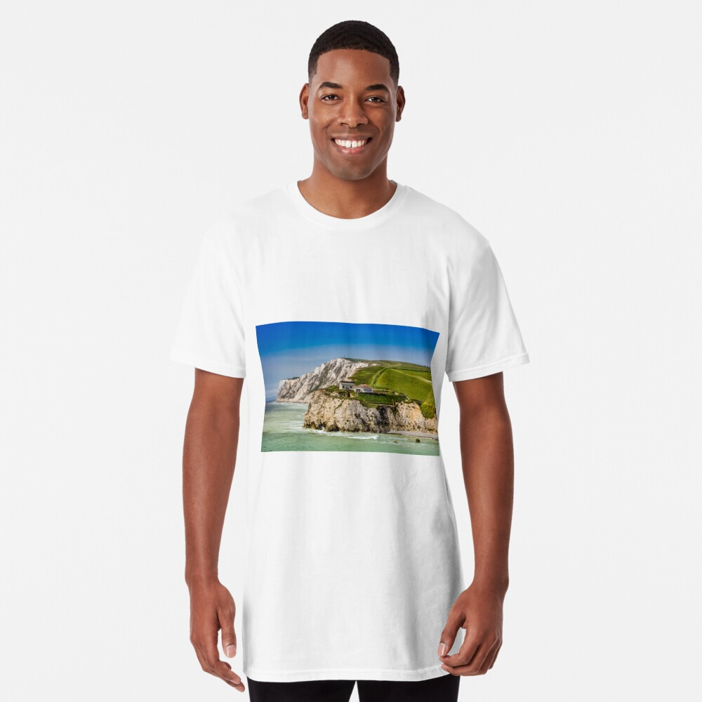 Fort Redoubt Freshwater Bay Isle Of Wight Long T-Shirt