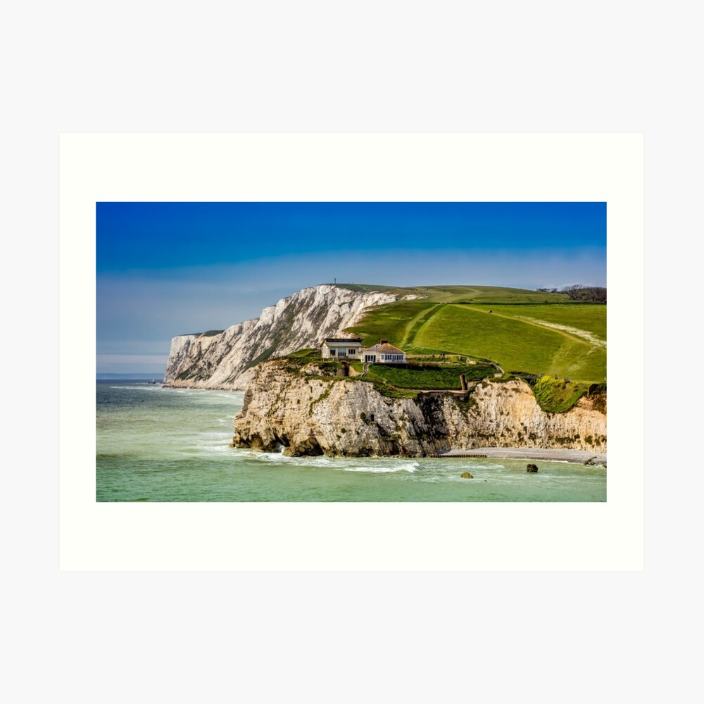 Fort Redoubt Freshwater Bay Isle Of Wight Art Print