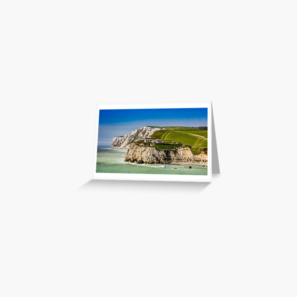 Fort Redoubt Freshwater Bay Isle Of Wight Greeting Card