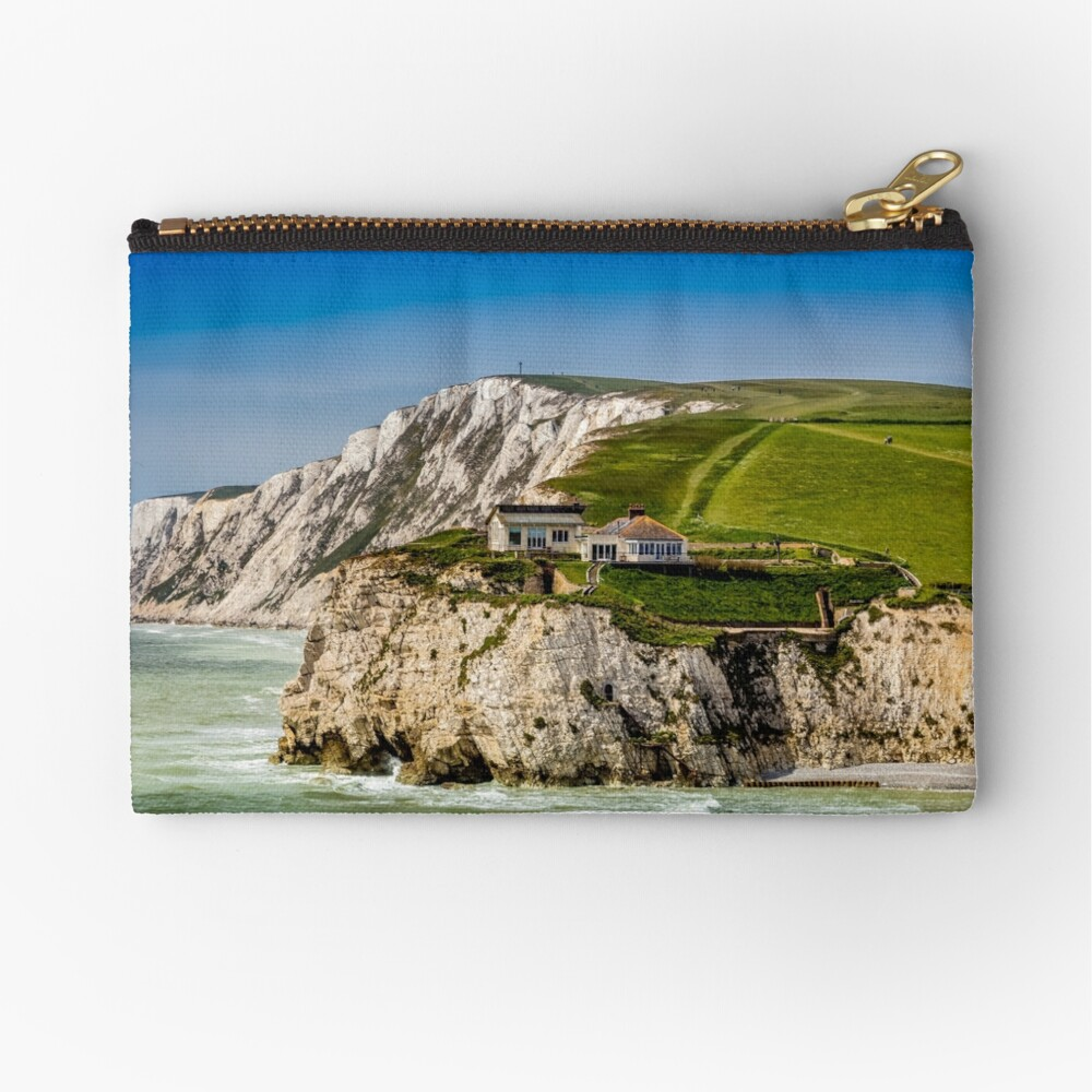 Fort Redoubt Freshwater Bay Isle Of Wight Zipper Pouch
