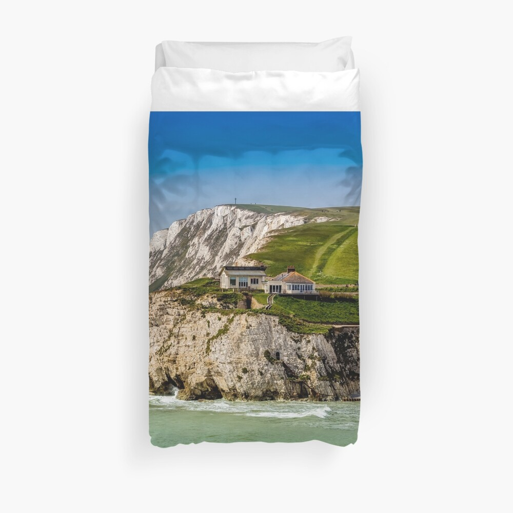 Fort Redoubt Freshwater Bay Isle Of Wight Duvet Cover