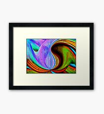 Stained glass waves Framed Print