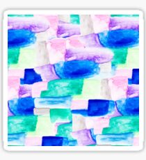 Modern bold bright hand painted watercolor color block Sticker