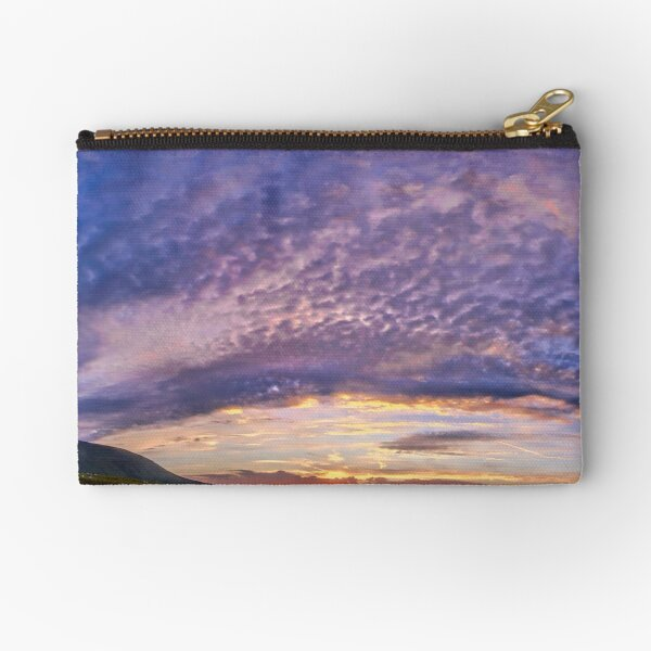 be still and know.... by Phil Darby Zipper Pouch