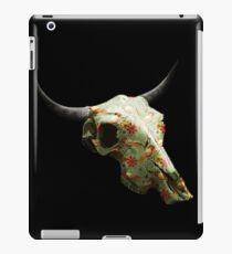 Birds & Flowers Cow Skull Design v.6   iPad Case/Skin