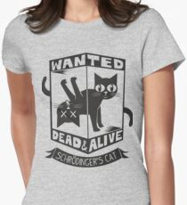 The Flash (Cisco's shirt) - Wanted Dead and Alive (Scrödinger's Cat) Women's Fitted T-Shirt