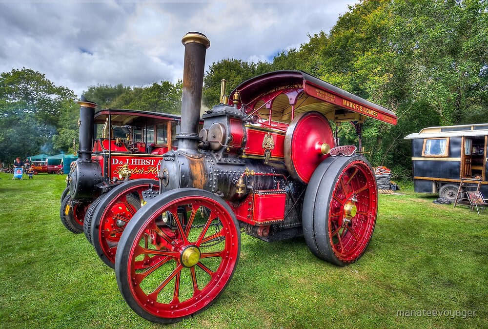 Steam Traction Engine by manateevoyager
