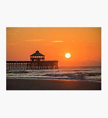 Sunrise at Folley Beach Photographic Print
