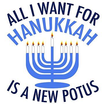 Anti Trump Hanukkah Menorah by elishamarie28