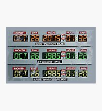 Back to the Future Control Panel  Photographic Print