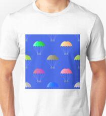 Parachute Seamless Pattern on Blue Sky. Extreme Sport Background. T-Shirt