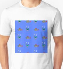 Diving Mask Icon Seamless Pattern on Blue. Extreme Sport Background Unisex T-Shirt
