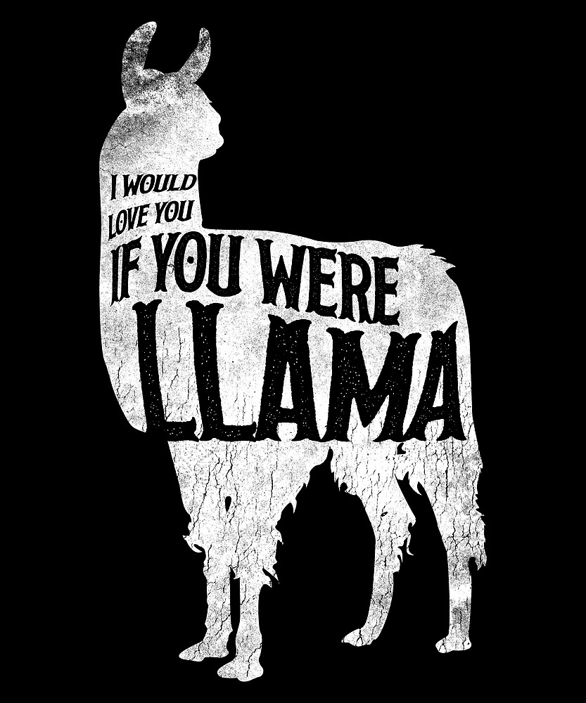 I Would Love You If You Were Llama by roarr