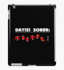 Days Sober Funny Geek Nerd iPad Case/Skin