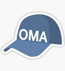 Omaha Baseball Cap Sticker