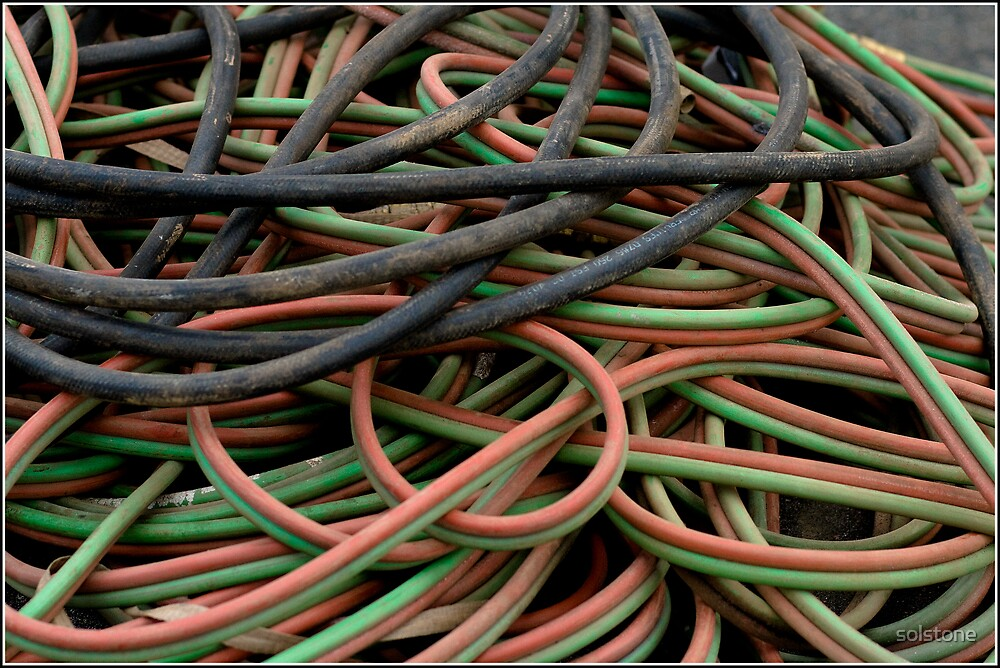 Multi colored cables by solstone