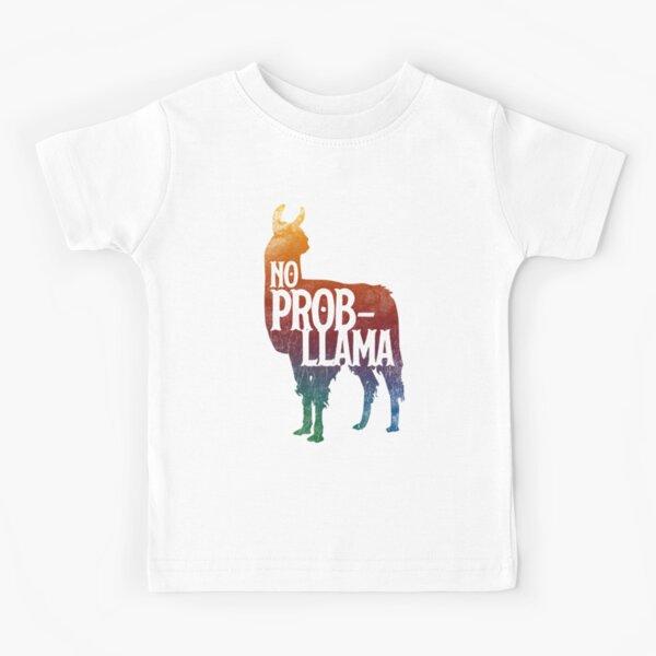 No Prob-llama Fynny Llama, Love LLamas Kids T-Shirt