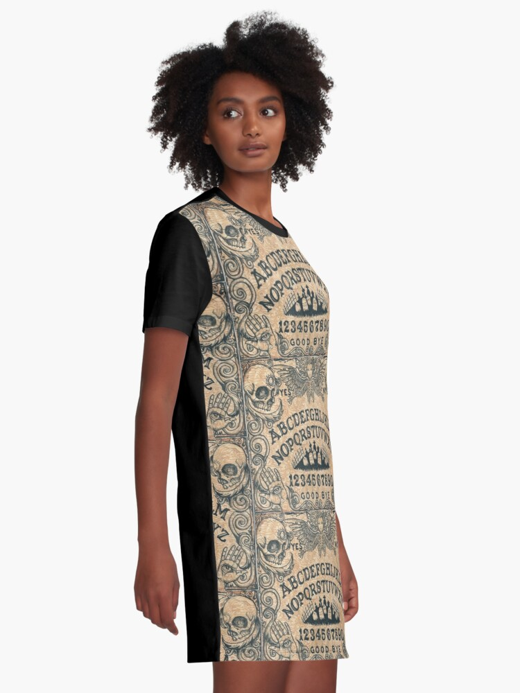 Alternate view of Angel of Death Witch Board Graphic T-Shirt Dress