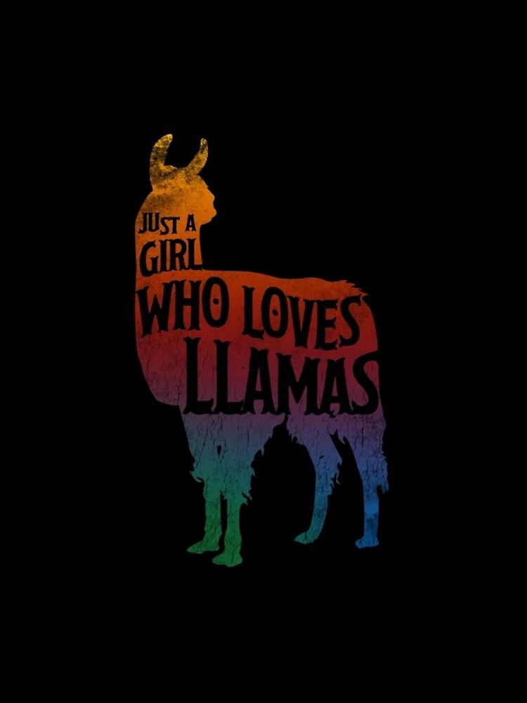Mädchen, das Llamas, Lama-Liebhaber liebt von roarr