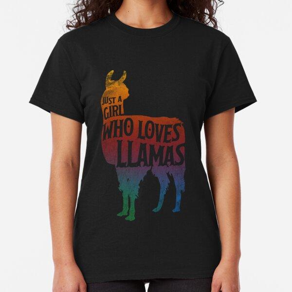 Girl Who Loves Llamas, Llama Lover Classic T-Shirt