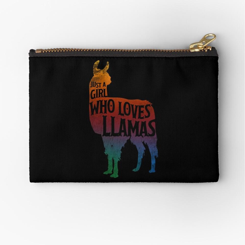 Mädchen, das Llamas, Lama-Liebhaber liebt Täschchen