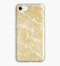 Modern faux gold glitter stylish marble effect iPhone Case/Skin