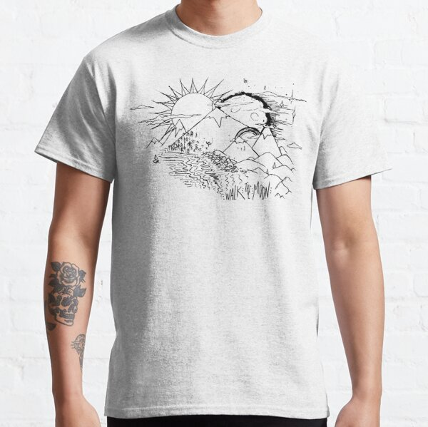 """Mountains"", WALK THE MOON Inspired Classic T-Shirt"