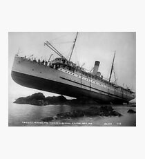 Shipwreck - SS Princess May - August 5, 1910 Photographic Print