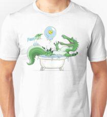 Paleo Kids- Suchomimus with Sawyer Unisex T-Shirt