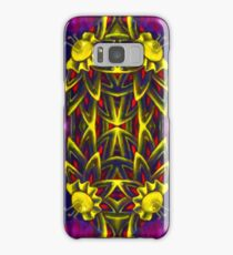 Psychedelic ornament. Bright neon forms. Ultraviolet illustration. Abstract glowing pattern Samsung Galaxy Case/Skin