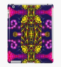 Psychedelic ornament. Bright neon forms. Ultraviolet illustration. Abstract glowing pattern iPad Case/Skin
