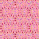 Geometric Hand Drawing Pattern - Sacred Geometry Pink by Cveta