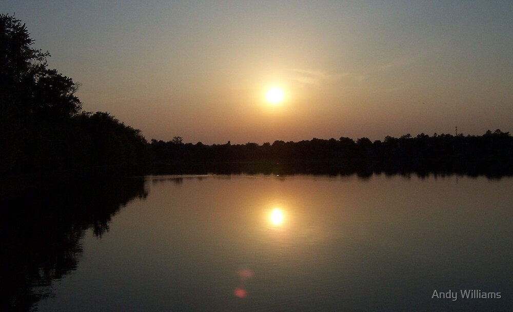 Sunset over Lady Ann Lake, Huntsville, Alabama by Andy Williams