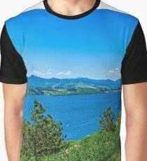 Horsetoothe Dam View Graphic T-Shirt