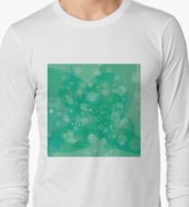 Circle Green Light Background. Round Green Wave Pattern. T-Shirt