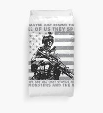 The Monsters And The Weak - US Army Veteran Duvet Cover
