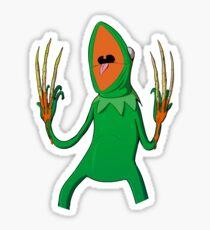 Kermit the Horror Frog Sticker