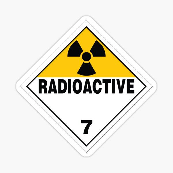 Radioactive Warning Sign Sticker