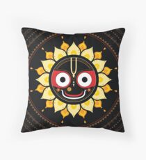 Lord Jagannatha. Throw Pillow