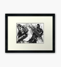 Raiden vs. Monsoon - Metal Gear Framed Print