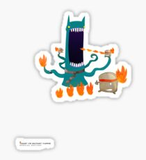 Toast VS Mutant Yuppie Sticker