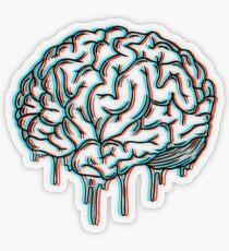 Pegatina transparente cerebro