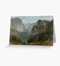 Indians at Campfire, Yosemite Valley by Thomas Hill Greeting Card